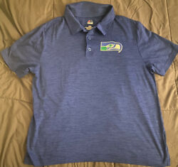 Seattle Seahawks Polo throwback Majestic Authentic $20.00