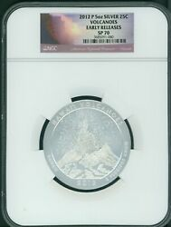 2012-p Hawaii Volcanoes Np Atb 5 Oz Silver Ngc Sp70 Early Releases E.r. Scarce