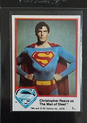 1978 Superman Rookie - 1 Christopher Reeve As The Man Of Steel Dc Comics
