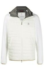 Brunello Cucinelli Men Zipped Hooded Jacket Size Xl Free Ship New With Tags
