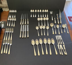 64 Pcs S. Kirk And Son Old Maryland Plain Sterling Silver Service 2092 Grams