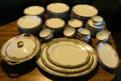 Antique Theodore Haviland Limoges China Set Schleiger 614e 97 Pieces Vg-excell