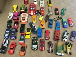 Toy Car Lot, Hot Wheels And Others, Misc, Heavy Play, Diecast + Plastic + Disney