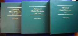 1964-2016 Kennedy Half Pds Bu Proof And Silver 170 Coins In 3 Littleton Albums