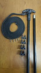 12 Ft. Jointed 2 Pc. Shallow Water Stick Anchor Pin Anchor Pole - 12b-2p