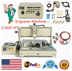 4axis Usb 2.2kw Cnc 6090 Router Engraver 3d Cutter Engraving Mill Drill Machine