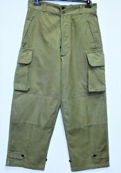 Genuine Indochina French Army M47 Cargo Pants/trousers Dated 1954 W34 L42