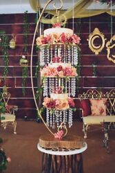 Hanging Cake Stand Full Set With Crystals