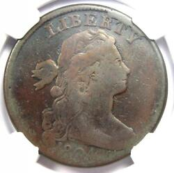 1804 Draped Bust Large Cent 1c Coin - Certified Ngc Fine Details - Rare Key Date