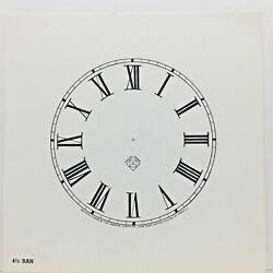 New Old Stock Ansonia 4 1/5 Gloss Clock Dial With Roman Numerals For Parts