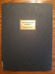 Vintage 1928 Advertising Layout By Frank Young Antique Print Marketing Book