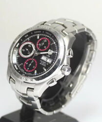 Tag Heuer Link Tiger Woods Model Automatic Cjf211c Chronograph Watch Wl28562