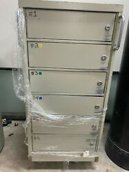 6 Drawer Safety Deposit Box With Lock And Key.andnbsp Safe/vault On Wheels.andnbsp Portable.