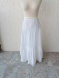 Early 1900and039s Vintage White Lawn Cotton Slip/dress