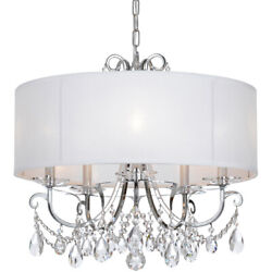 Crystorama 6625-ch-cl-saq Othello Chandelier Polished Chrome