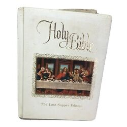 Holy Bible King James Version Last Supper Edition Family Bible Vintage