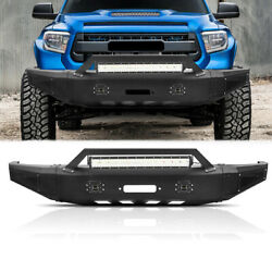 Steel Front Bumper Covers For Tundra 2014-2019 With 144w Leds Bar Led Fog Lights