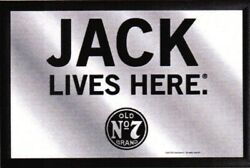 Jack Daniels Whiskey Lives Here Mirror 11 13/16in Wall Mirror Bar