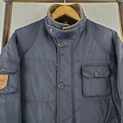Vtg Polo Sportsman Large Hunting Down Filled Jacket Game Pouch