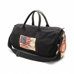 Polo Jeans Company Authentic Cotton Canvas Boston Bag Black Used From Japan