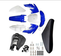 Blue Plastics And Gas Tank And Tall Seat And Bolts For Honda Crf70 Xr70 Dirt Pit Bike