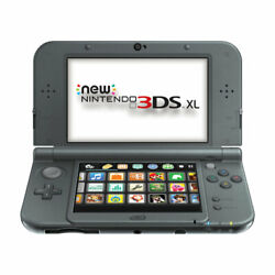 Nintendo New 3ds Xl Handheld Console Video Game System Black Read