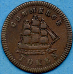 Canada 1828 Lower Canada Francis Mullins And Son Token Breton 563 Lc-17a1 - Ef
