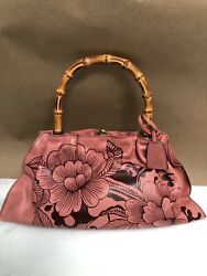 Aunthentic Collectible Tom Ford Floral Tattoo Pink/dark Brown Handbag 2003