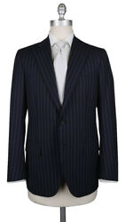 Cesare Attolini Midnight Navy Blue Super 150and039s Striped Suit - 40/50 332