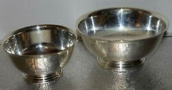Vintage Gorham Ep Paul Revere Bowls Silver Plated Yc778 And Yc779 Set Of 2