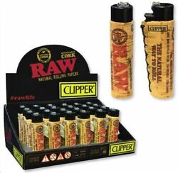 Raw Clipper Raw Cork Cover Lighter Reusable Free Shipping Full Box 30 Count