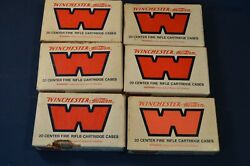 6 Vintage Western Winchester Rifle Cartridge Boxes,empty,reloading Supplies,220
