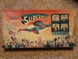 Calling Superman Vintage Board Game - Complete Minus Two Player Pawns