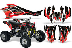 Atv Graphics Kit Decal For Can-am Ds450 2008-2016 Tribal Flames Red