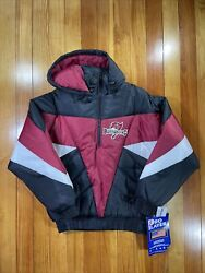Nfl Tampa Bay Buccaneers Pro Player Puffer Jacket Vintage Size M
