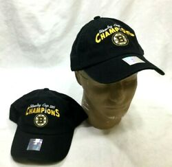 Boston Bruins 2011 Stanley Cup Champions Stone Washed Soft Hat Cap Adjustable