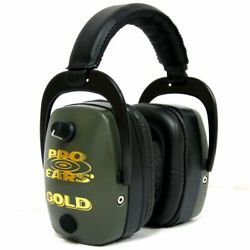 New Pro Ears Pro Mag Gold Hearing Protection And Amplification Ear Muffs