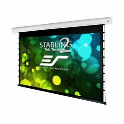 New Elitescreens Tab-tensioned Front Motorized Home Theater Projection 100