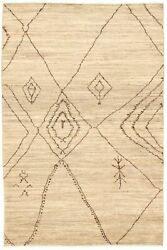 Modern Hand-knotted Carpet 6and0391 X 9and0393 Oriental Wool Area Rug