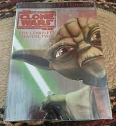 New Star Wars The Clone Wars The Complete Season Two 2 Dvd, 4-disc Set Sealed