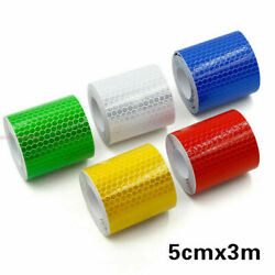 3m5cm Auto Car Sticker Reflective Self-adhesive Safety Warning Tape Roll Film