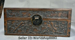 16 Antique Old China Huanghuali Wood Dynasty Palace Faqi Handle Chest Box Bin