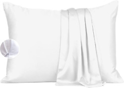 Bamboo Eco Pillow Cases Zip Pillow Protectors King 2 Pack Lyocell