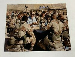 President George H. W. Bush Signed Autographed 11x14 Photo Beckett Bas A55741