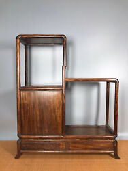 22and039and039 Chinese Antique Wood Shelf Natural Yellow Rosewood Storage Rack