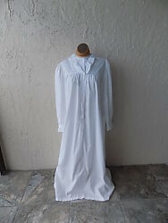 Vintage Early 1900and039s White Cotton Nightgown