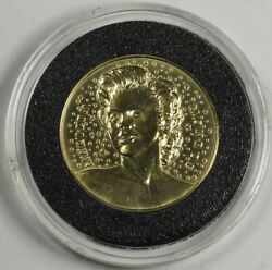 1987 Marilyn Monroe Gold Proof Medal Token 22mm 7.5 Grams Paris Mint W/ Box 18kt