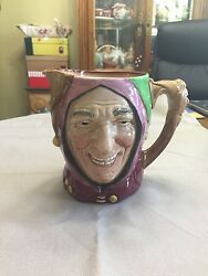 Royal Doulton Character Jug Large Touchstone/the Jester