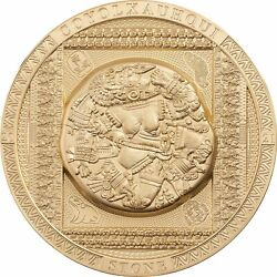 Cook 2021 Archeology And Symbolism - Aztec Coyolxauhqui Stone 20 Silver Coin 3oz.