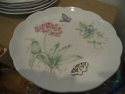6 Lenox Butterfly Meadow Monarch Dinner Plate 10 7/8 By Laurie Le Luyer See Pic